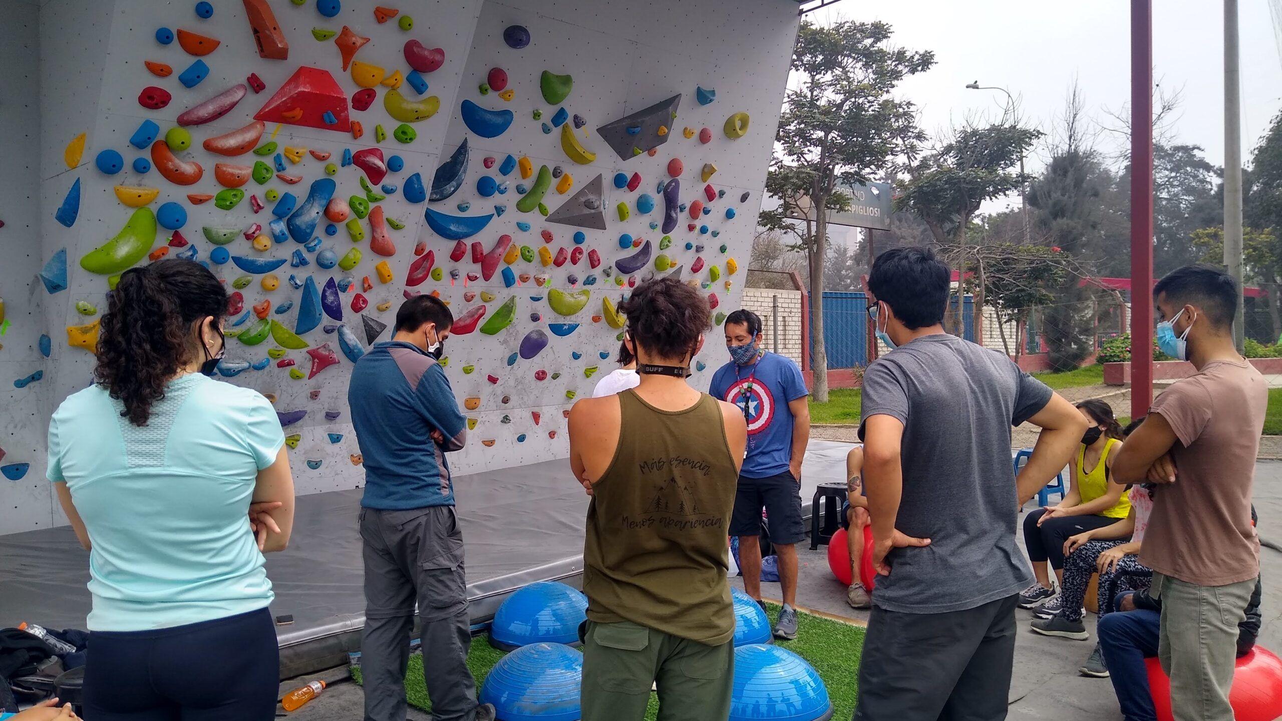 training campa de escalada en lima